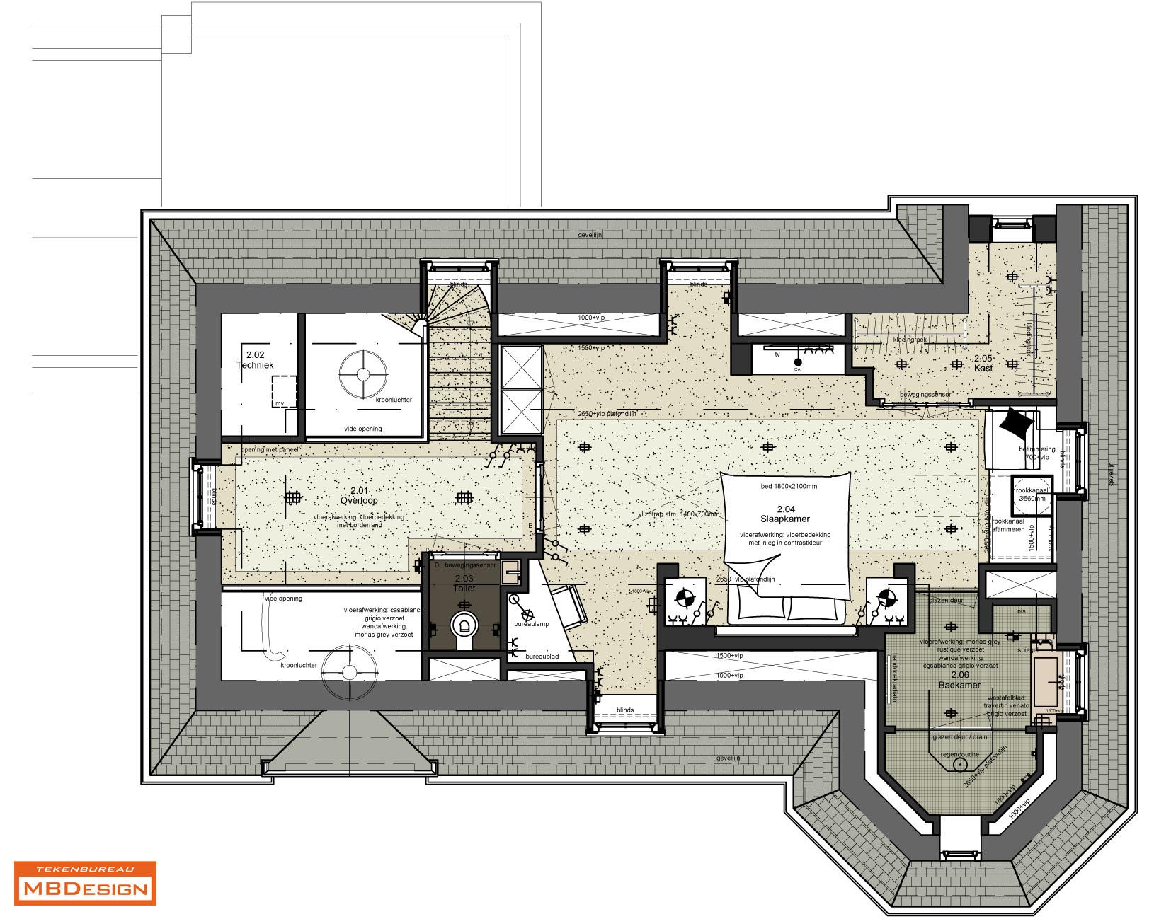 Interieurontwerp tekening interieur meubilair idee n for Interieur ontwerp